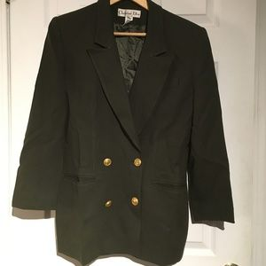 Christian Dior Vintage Double Breasted Wool Blazer